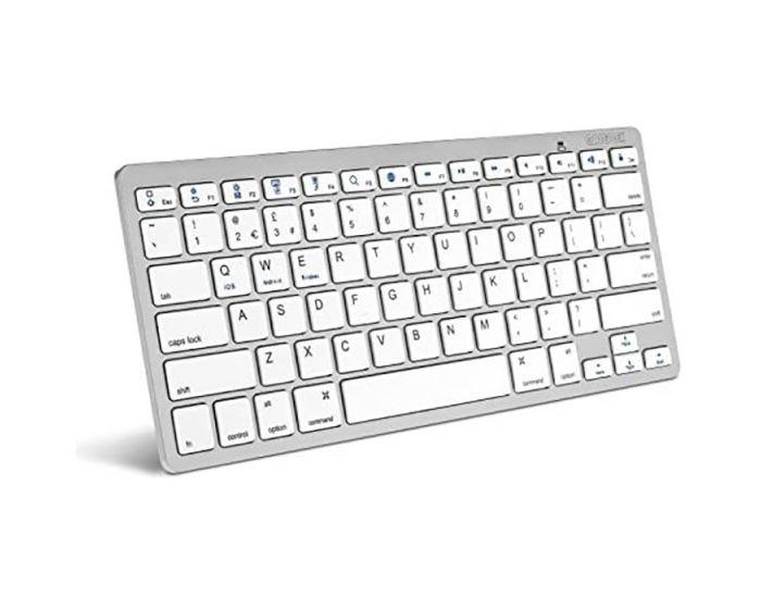 Caseflex Bluetooth Ασύρματο Πληκτρολόγιο για Smartphone & Tablet White / Silver