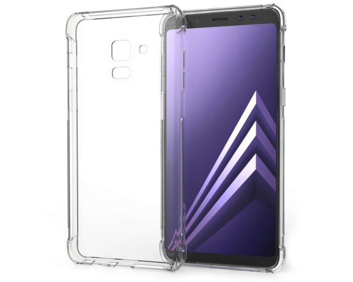 Caseflex Shockproof Thin Silicone Case Ανθεκτική Θήκη Σιλικόνης Clear (Samsung Galaxy A8 Plus 2018)