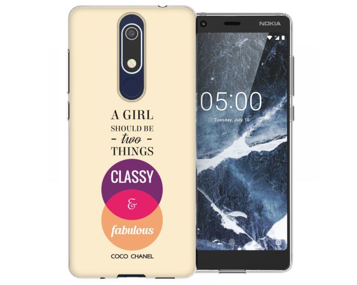 Caseflex Slim Fit Gel Case Chanel Classy (CUV-N51-Z183) Θήκη Σιλικόνης Fabulous Quote (Nokia 5.1 2018)
