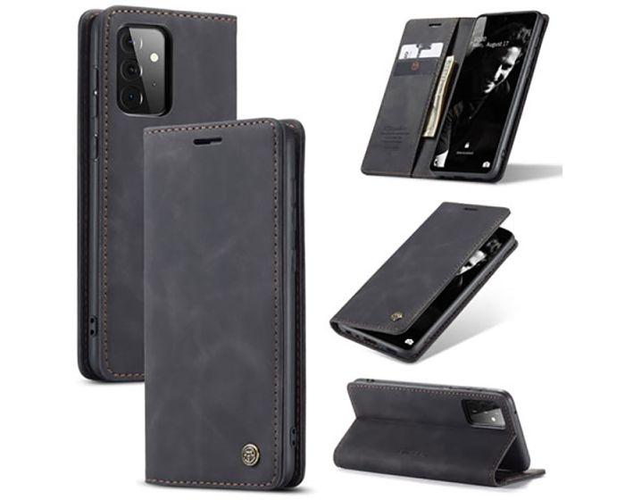 CaseMe PU Leather Wallet Case Θήκη Πορτοφόλι με Stand - Black (Samsung Galaxy A72 4G / 5G)