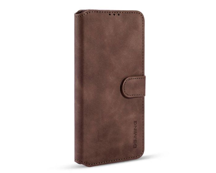 CaseMe Magnetic 2 in 1 Wallet Case Θήκη Πορτοφόλι με Stand - Dark Brown (Samsung Galaxy A12)
