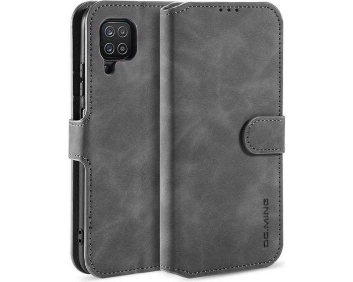 CaseMe Magnetic 2 in 1 Wallet Case Θήκη Πορτοφόλι με Stand - Grey (Samsung Galaxy A12)