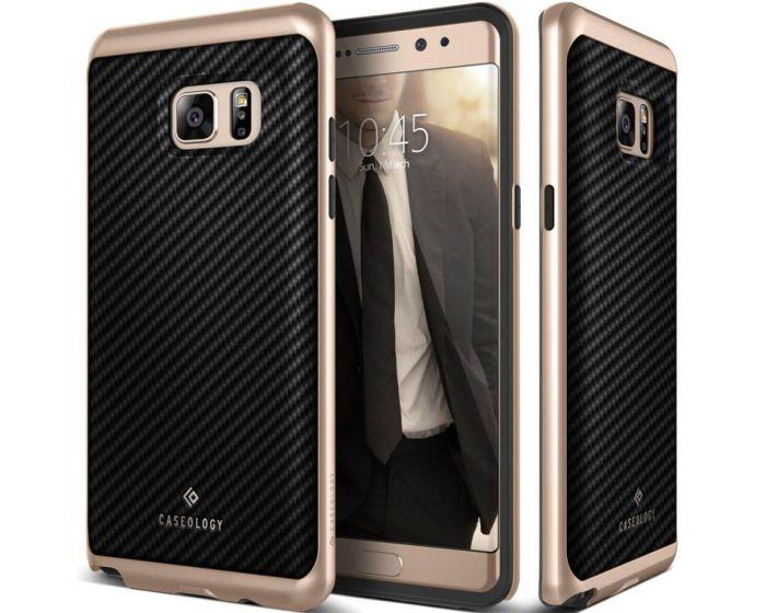 CASEOLOGY Envoy Series (CO-NT7-ENV-BK) Carbon Fiber Black / Gold (Samsung Galaxy Note 7)
