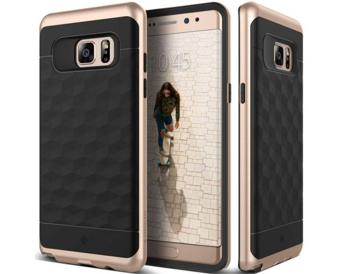 CASEOLOGY Parallax Series (CO-NT7-ARM-BKGD) Black / Gold (Samsung Galaxy Note 7)