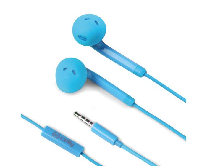 Celly Color Stereo Earphone (FUN35LB) Ακουστικά με Ενσωματωμένο Μικρόφωνο - Light Blue