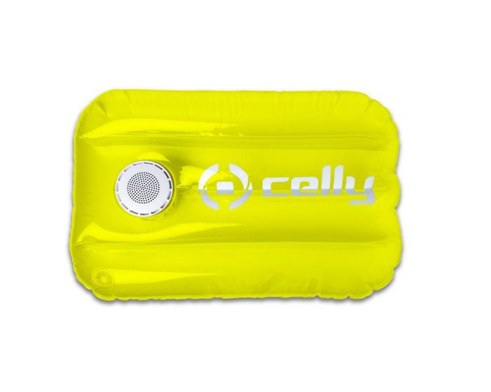 Celly Pool Pillow Bluetooth Speaker 3W Φορητό Ηχείο Yellow