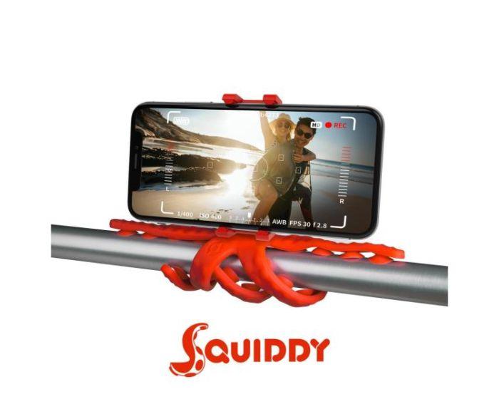 Celly Squiddy Flexible Mini Tripod για Κινητά και Action Camera - Red