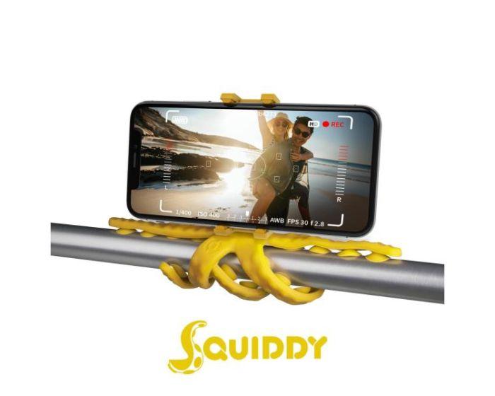 Celly Squiddy Flexible Mini Tripod για Κινητά και Action Camera - Yellow