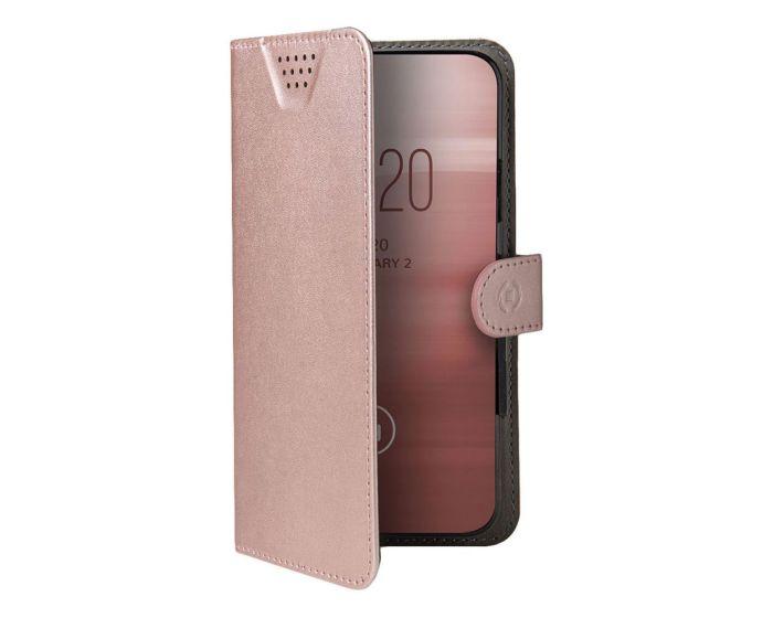 """Celly Wally One XXXL Case Θήκη Πορτοφόλι Pink για συσκευές με οθόνη από 5.5"""" μέχρι 6.0"""""""