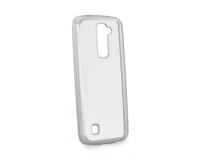 Forcell Electro Bumper Silicone Case Slim Fit - Θήκη Σιλικόνης Clear / Silver (LG K10)