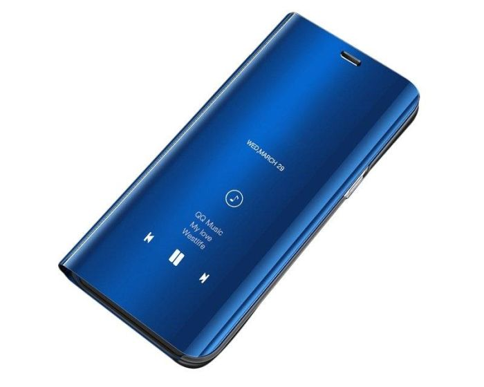 Clear View Standing Cover - Blue (Huawei Y6P)