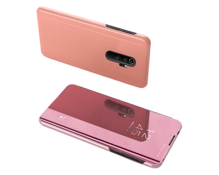 Clear View Standing Cover - Rose Gold (Xiaomi Redmi Note 8 Pro)