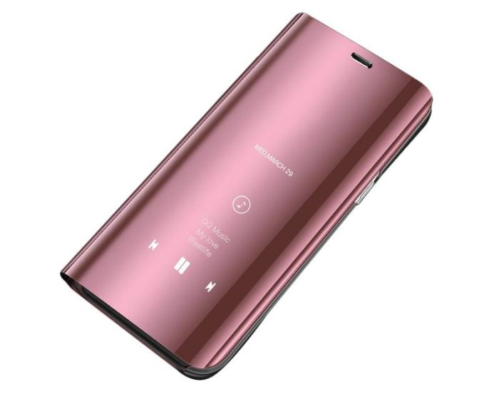 Clear View Standing Cover - Rose Gold (Samsung Galaxy J4 Plus 2018)