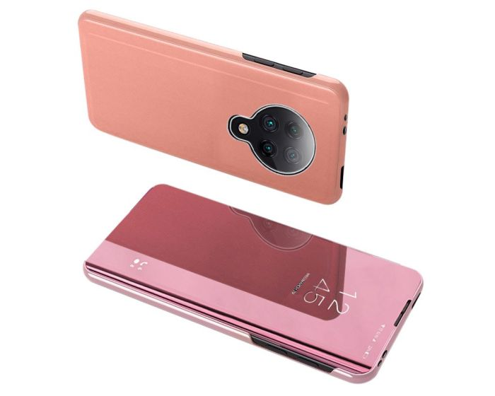 Clear View Standing Cover - Rose Gold (Xiaomi Poco F2 Pro)