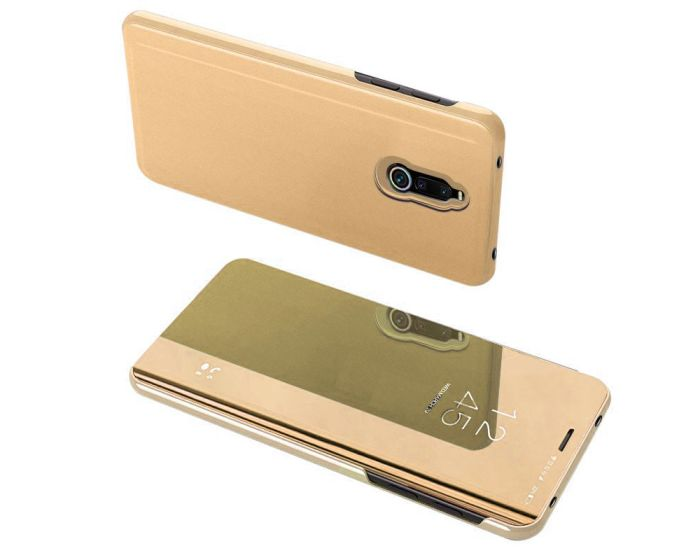 Clear View Standing Cover - Gold (Xiaomi Redmi 8)