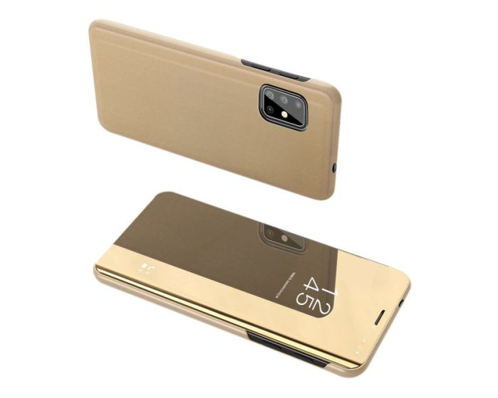 Clear View Standing Cover - Gold (Samsung Galaxy S20 Plus)