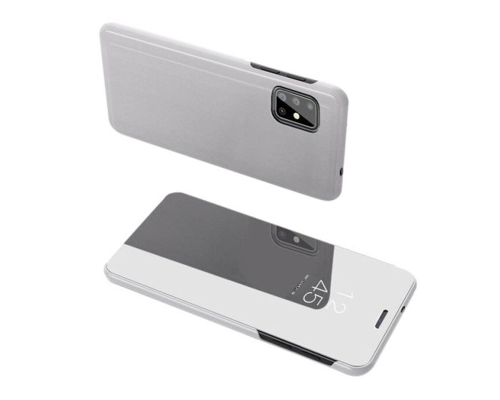 Clear View Standing Cover - Silver (Samsung Galaxy S20 Plus)