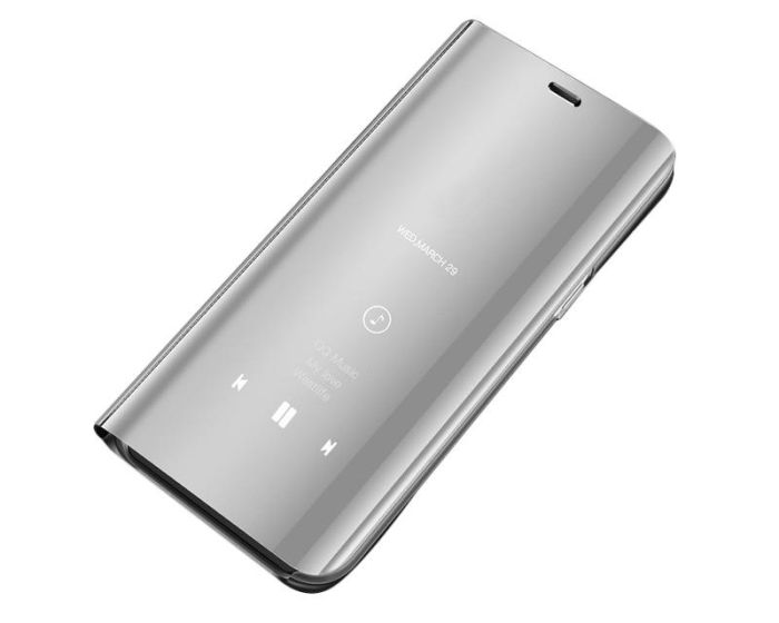 Clear View Standing Cover - Silver (Huawei Y5 2019)