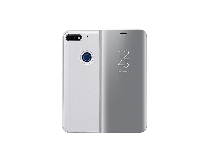 Clear View Standing Cover - Silver (Huawei Y6 Prime 2018)