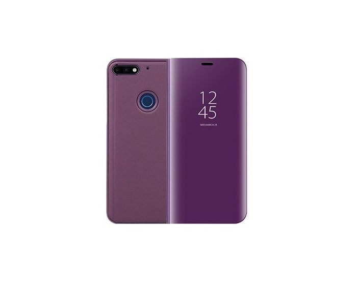 Clear View Standing Cover - Purple (Huawei Y6 Prime 2018)