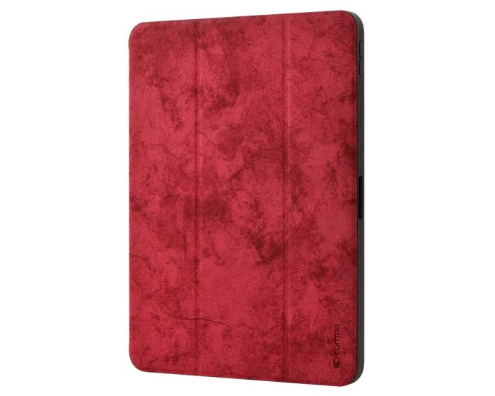 Comma Swan Leather Case with Pen Holder (DSWIP102-RD) Red (iPad 10.2 2019 / 2020 / 2021)