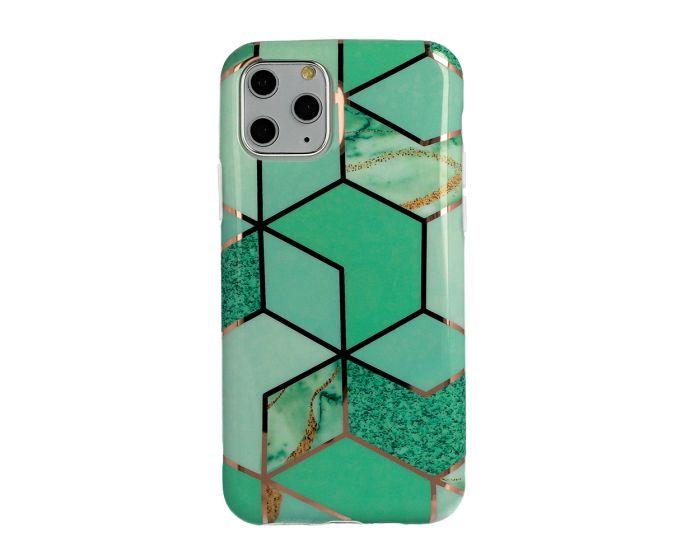 Cosmo Marble Silicone Case Θήκη Σιλικόνης Design 02 Green (Xiaomi Redmi 9C)