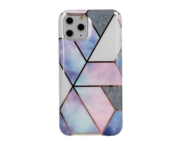 Cosmo Marble Silicone Case Θήκη Σιλικόνης Design 03 Purple (Xiaomi Redmi 9A / 9AT)
