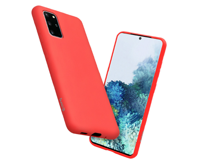 Crong Color Cover Flexible Premium Silicone Case (CRG-COLR-SG20P-RED) Θήκη Σιλικόνης Red (Samsung Galaxy S20 Plus)