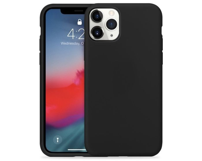 Crong Color Cover Flexible Premium Silicone Case (CRG-COLR-IP11PM-BLK) Θήκη Σιλικόνης Black (iPhone 11 Pro Max)