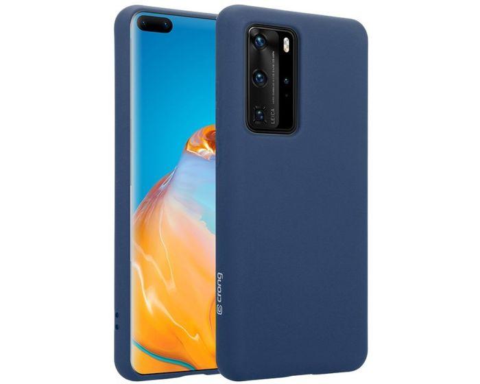 Crong Color Cover Flexible Premium Silicone Case (CRG-COLR-HP40P-BLUE) Θήκη Σιλικόνης Blue (Huawei P40 Pro)