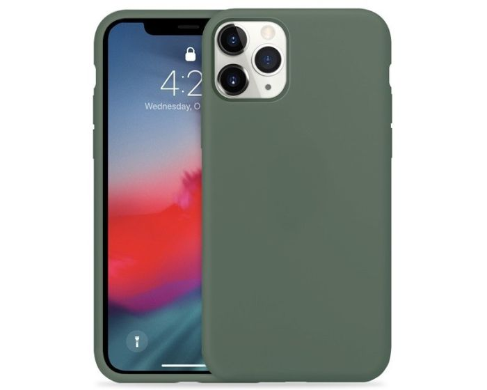 Crong Color Cover Flexible Premium Silicone Case (CRG-COLR-IP11P-PGRN) Θήκη Σιλικόνης Green (iPhone 11 Pro)