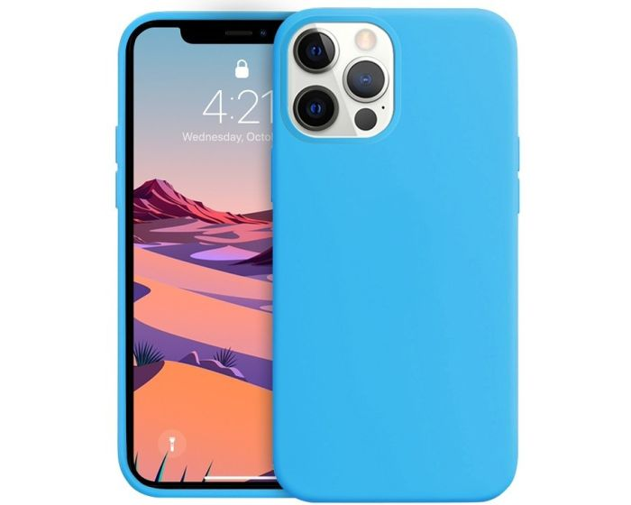 Crong Color Cover Flexible Premium Silicone Case (CRG-COLR-IP1267-LBLU) Θήκη Σιλικόνης Light Blue (iPhone 12 Pro Max)