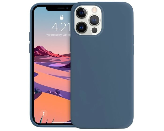 Crong Color Cover Flexible Premium Silicone Case (CRG-COLR-IP1267-BLUE) Θήκη Σιλικόνης Navy Blue (iPhone 12 Pro Max)