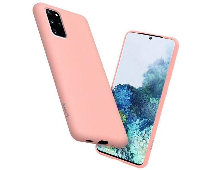Crong Color Cover Flexible Premium Silicone Case (CRG-COLR-SG20P-PNK) Θήκη Σιλικόνης Pink (Samsung Galaxy S20 Plus)