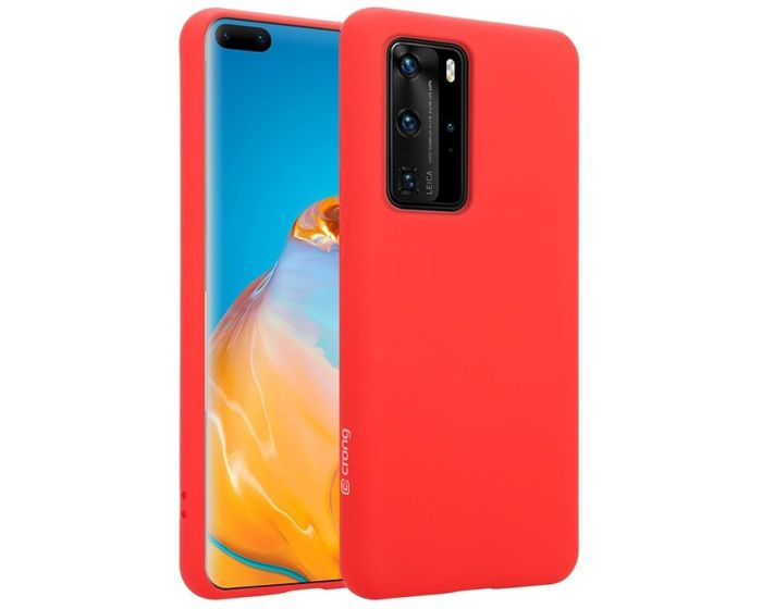 Crong Color Cover Flexible Premium Silicone Case (CRG-COLR-HP40P-RED) Θήκη Σιλικόνης Red (Huawei P40 Pro)