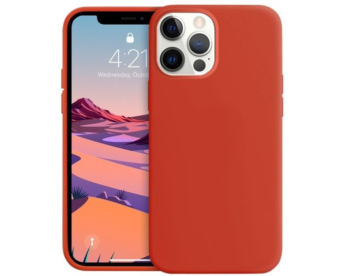 Crong Color Cover Flexible Premium Silicone Case (CRG-COLR-IP1267-RED) Θήκη Σιλικόνης Red (iPhone 12 Pro Max)