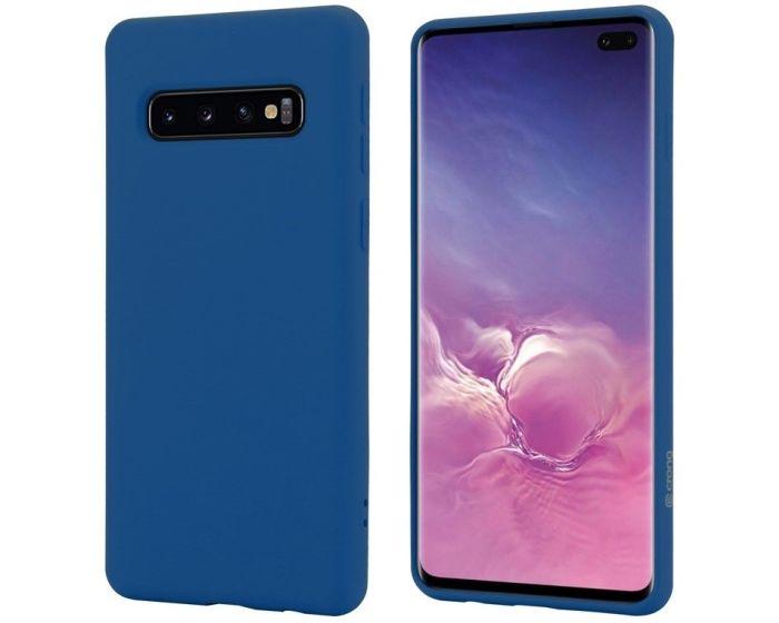 Crong Color Cover Flexible Premium Silicone Case (CRG-COLR-SGS10P-BLUE) Θήκη Σιλικόνης Blue (Samsung Galaxy S10 Plus)