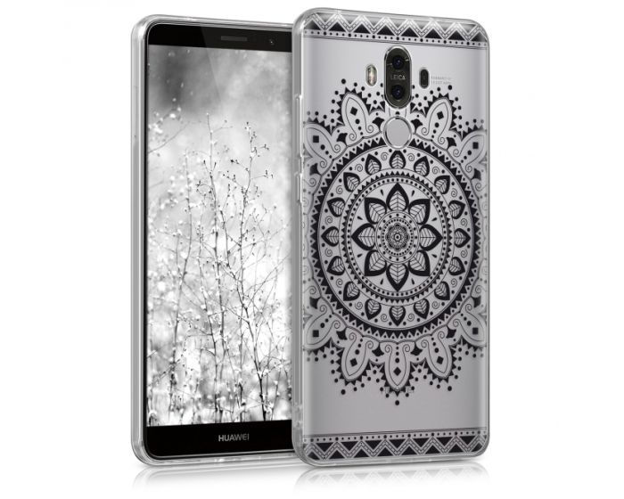 KWmobile Silicone Case Indian Sun Design (40276.03) Θήκη Σιλικόνης Διάφανη Μαύρη (Huawei Mate 9)