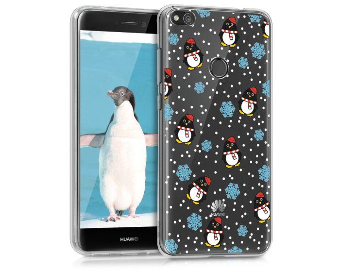 KWmobile Slim Fit Gel Case Penguin Winter (40898.22) Θήκη Σιλικόνης (Huawei P8 Lite 2017 / P9 lite 2017 / Honor 8 Lite)