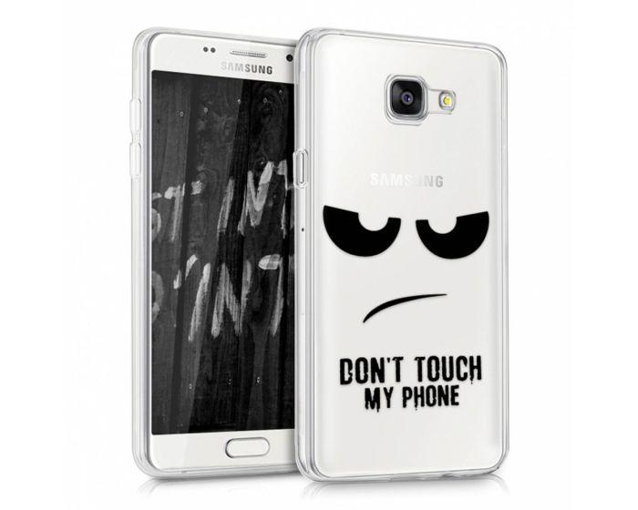 KWmobile Slim Fit Gel Case Don't touch my phone (39235.01) Θήκη Σιλικόνης (Samsung Galaxy A5 II - 2016)