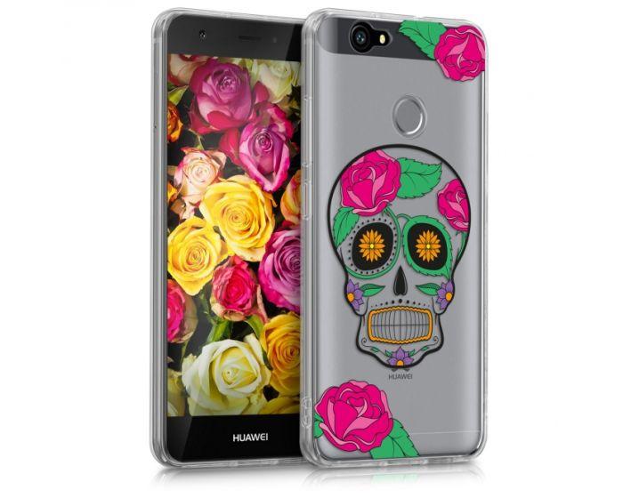KWmobile Slim Fit Gel Case Sugar Skull (39670.12) Θήκη Σιλικόνης  Διάφανη (Huawei Nova)