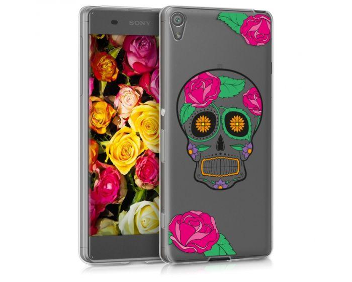 KWmobile Slim Fit Gel Case Sugar Skull (39331.09) Θήκη Σιλικόνης  Διάφανη (Sony Xperia XA)