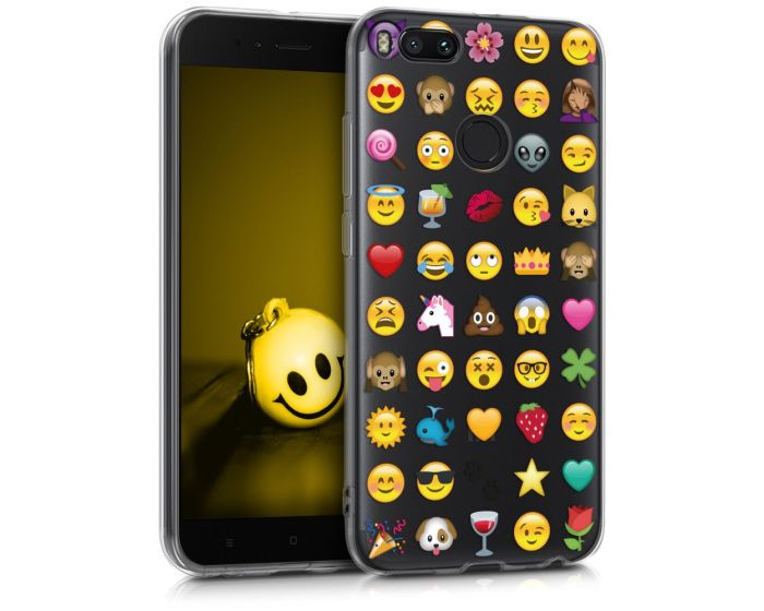 KWmobile Slim Fit Gel Case Emoji (43584.02) Θήκη Σιλικόνης (Xiaomi Mi A1 / 5X)