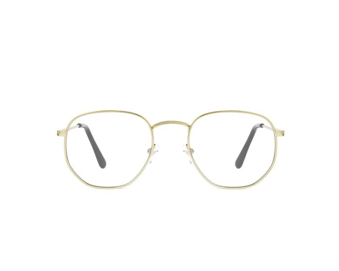 D.Franklin Glasses Classic Hexagon Γυαλιά με φίλτρο Anti-Blue Light - Gold