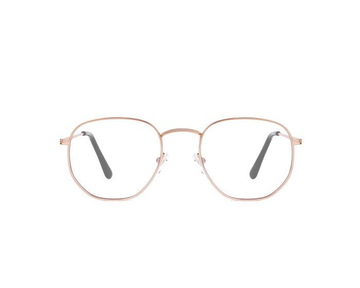 D.Franklin Glasses Classic Hexagon Γυαλιά με φίλτρο Anti-Blue Light - Rose Gold