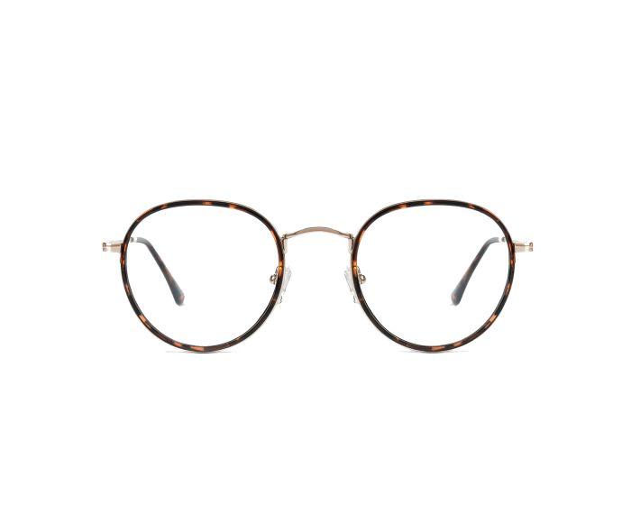 D.Franklin Glasses Walker Round Γυαλιά με φίλτρο Anti-Blue Light - Gold Carey
