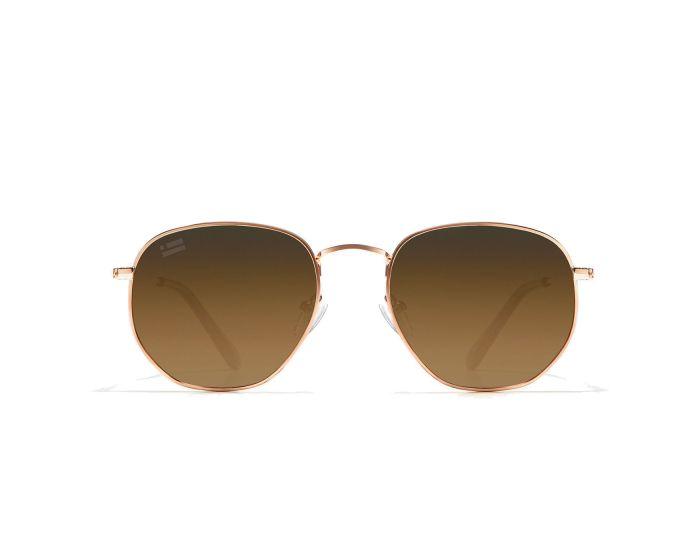 D.Franklin Sunglasses Classic Hexagon (DFKSUN0413) Γυαλιά Ηλίου Rose Gold / Grad Brown
