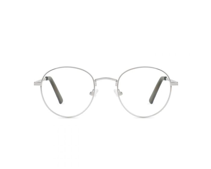 D.Franklin Classic Metal Round Γυαλιά με φίλτρο Anti-Blue Light - Silver