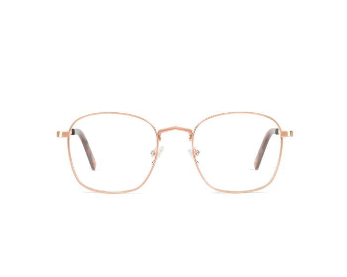 D.Franklin Classic Square Γυαλιά με φίλτρο Anti-Blue Light - Rose Gold