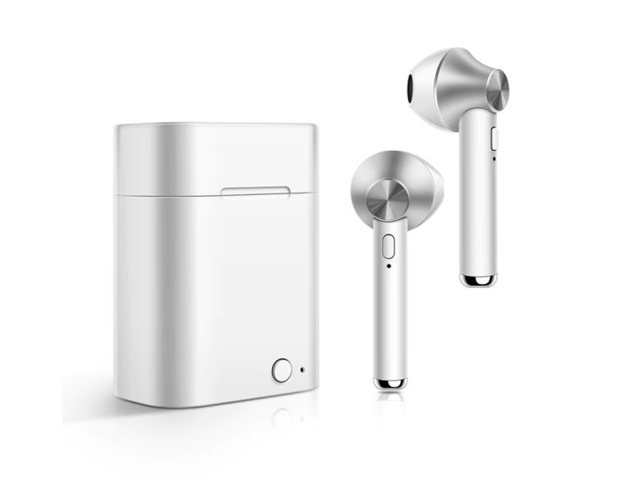 D012 TWS Wireless Bluetooth Stereo Earbuds with Charging Box - White